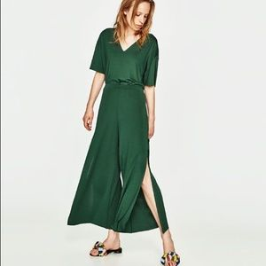 Zara Trafaluc Cropped Trousers with Side Vents